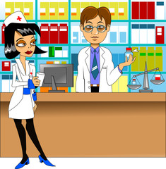 pharmacist and nurse