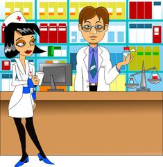 pharmacist and nurse