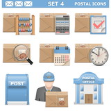 Vector Postal Icons Set 4