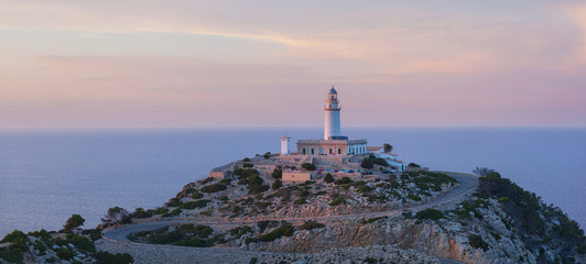 The lighthouse on the island of Mallorca, Spain