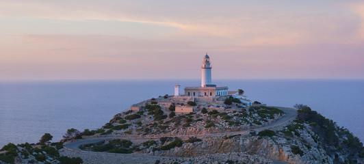 The lighthouse on the island of Mallorca, Spain
