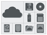 vector collection of different storage devices