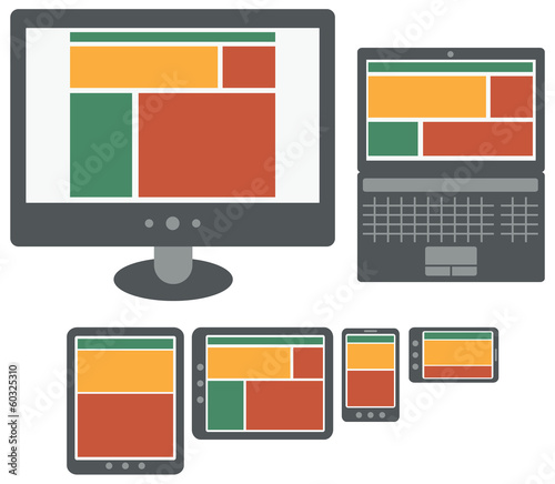responsive design web application on screens