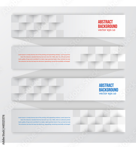 Vector abstract background. Label color and square