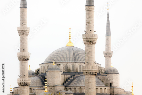 Exterior of Hagia Sophia mosque in Turkey