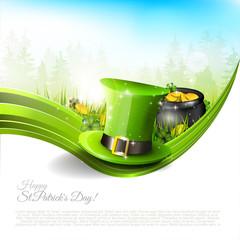 St Patrick's Day - backgruond with copyspace