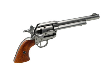 revolver pistol isolated on a white background