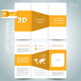 3d dimensional design brochure template yellow