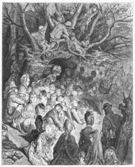 Riverbank under the Trees - Gustave Dore's London: a Pilgrimage