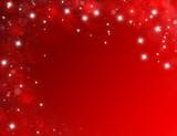 Fototapety Fond d'écran rouge carte anniversaire étoilé