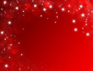 Fond d'écran rouge carte anniversaire étoilé