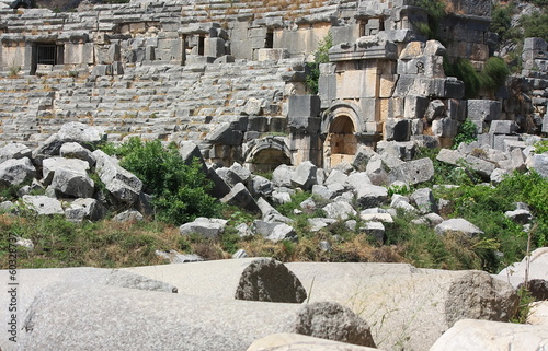 Amphitheater, ancient ruins, stones