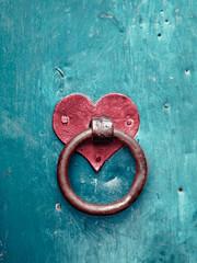 Old rusty gate latch
