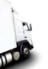 Camion aislado sobre fondo blanco