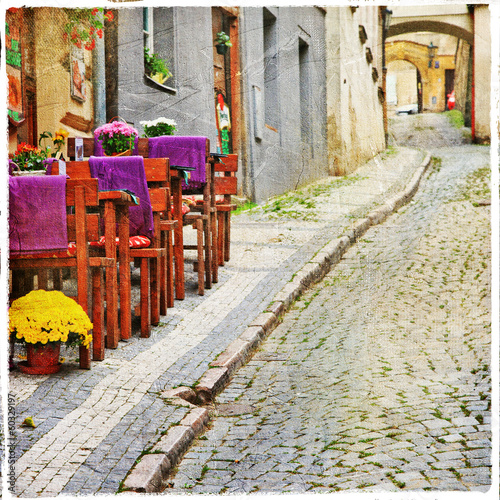 Obraz na Szkle charming old streets