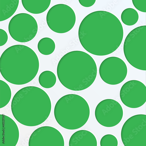abstract background of green circles of different sizes.paper ba