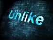 Social network concept: Unlike on digital background