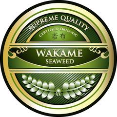 Wakame Seaweed Certified Organic Label