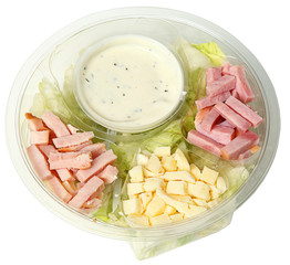 Healthy Fast Food Chef Salad in Carryout Bowl