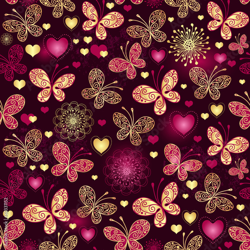 Valentine seamless dark pattern