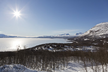 "National landmark ""Lapporten"" in Abisko, Sweden."