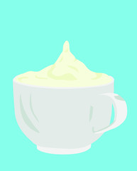Kaffee mit Milchschaum coffee with frothy milk