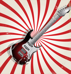 Rock music retro background