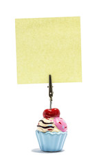 Ice cream Sticky note holder, with asquare sticky note
