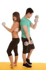 fitness couple lace bra curls backs