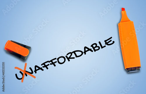 Unaffordable word