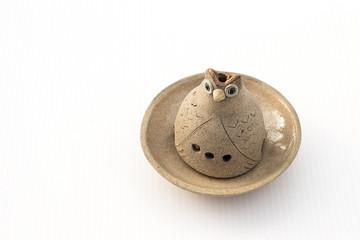 Ceramic Owl Candle Handler