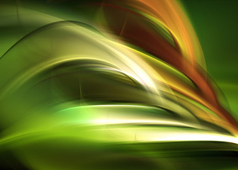 Creative Bright Green Element For Your Art Design