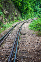 View of Burma railway (Death railway), Thailand