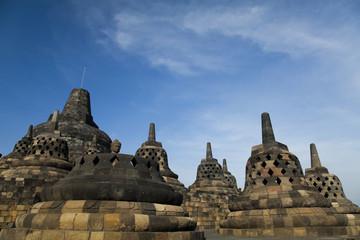 Buddist temple Borobudur, Yogyakarta, Java, Indonesia