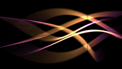 futuristic background of yellow and pink glowing curves