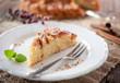 frisch gebackener apfelkuchen