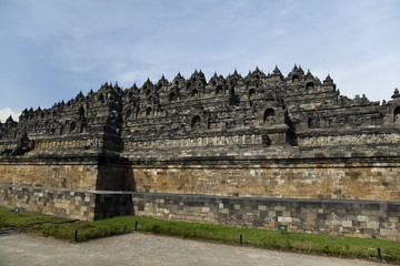 Borobudur, ancient buddhist temple,  Indonesia