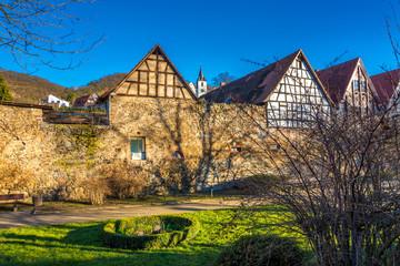 Zwingenberg Fachwerkhäuser und Bergkirche