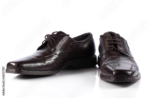 Male shoes.  man's  shoes isolated on white background