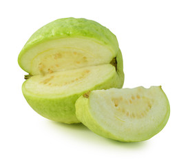 Guava fruit on isolated white background