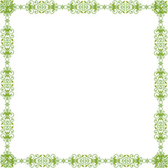 green pattern frame