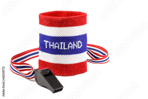 Whistle and wristband