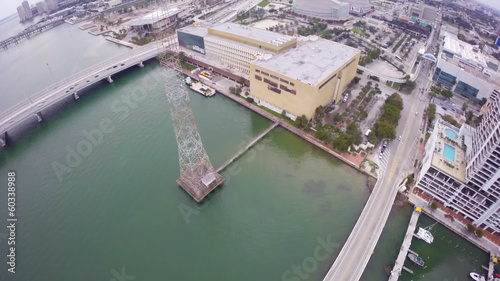 Aerial footage of the Miami Herald Building