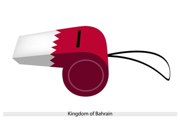 White and Red Color of Bahrain Whistle
