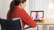 Patient video conferencing with doctor on computer