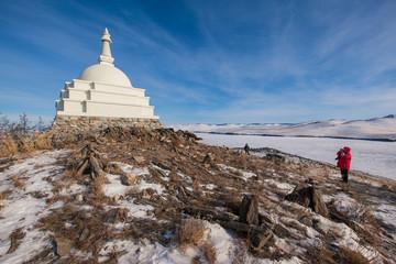 Buddhist stupa on Baikal Lake