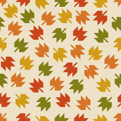 Seamless pattern with the falling leaves