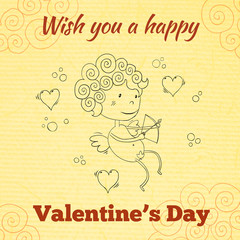 Wish you a happy Valentines Day greeting card