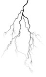 black complicated isolated lightning on white