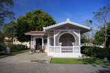 Thai pavilion build in Europe style in Bang Pa-In Palace Thailan
